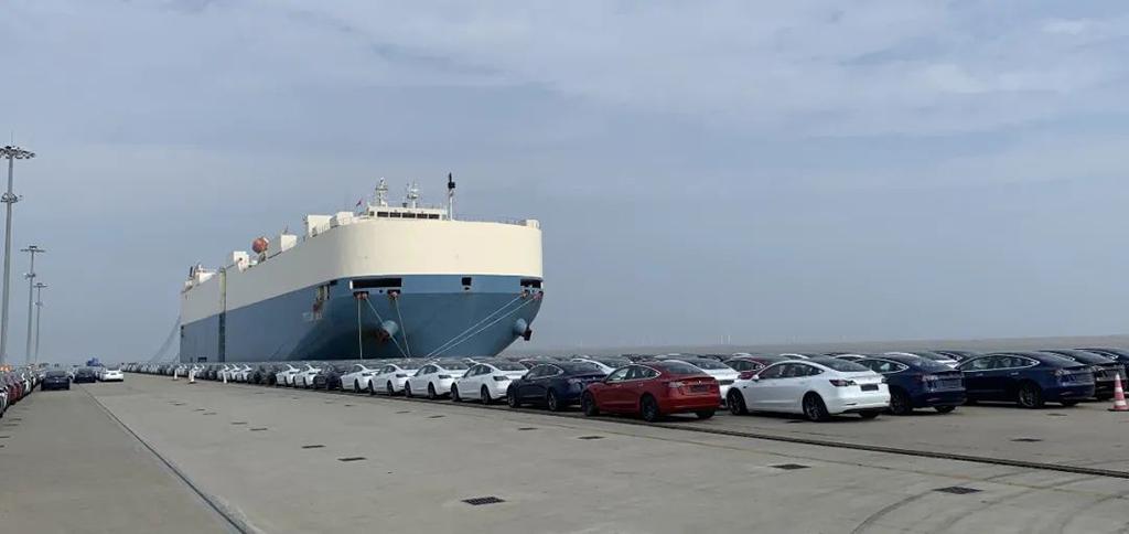 特斯拉领衔 8月中国新能源车出口呈现爆发式增长